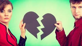 Ajouter au coeur brisé se cassant  Image stock