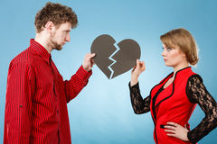 Ajouter au coeur brisé se cassant  Photo libre de droits
