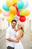 Ajouter aux ballons colorés photos stock
