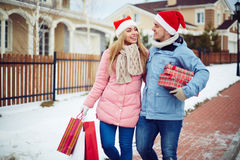 Ajouter aux cadeaux photos stock