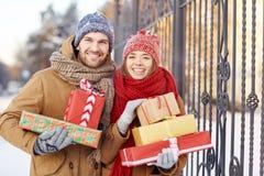 Ajouter aux cadeaux photo stock