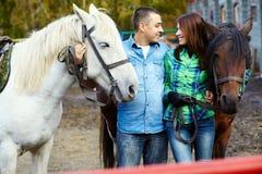 Ajouter aux chevaux Images libres de droits