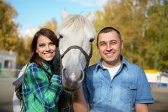 Ajouter aux chevaux Images stock