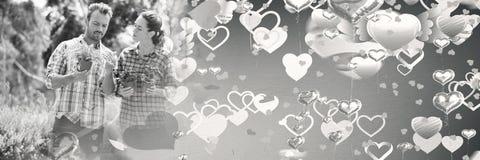 Ajouter aux coeurs de transition de l'amour de la valentine Photo stock