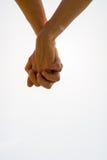 Ajouter aux mains étreintes dans une image conceptuelle de plan rapproché de l'amour Photos libres de droits