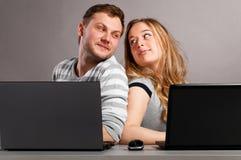 Ajouter aux ordinateurs portatifs Photos libres de droits