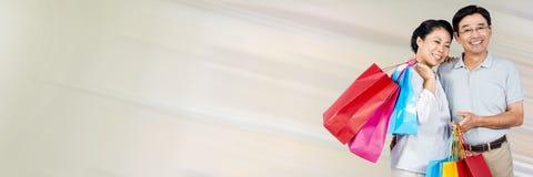 Ajouter aux paniers contre la tache floue de mouvement crème Photos libres de droits