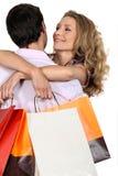 Ajouter aux sacs à provisions Photos stock