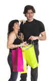 Ajouter aux sacs à provisions Photo libre de droits