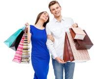 Ajouter aux sacs à provisions Photographie stock