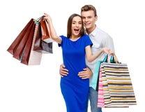 Ajouter aux sacs à provisions Photo stock
