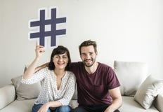 Ajouter blancs au concept social de media Images stock