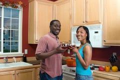 Ajouter d'Afro-américain aux Glaces-Horiz de vin photos libres de droits