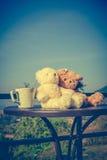 Ajouter d'ours de nounours de concept à l'amour et relations pour valent Images libres de droits