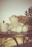 Ajouter d'ours de nounours de concept à l'amour et relations pour valent Images stock