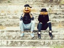 Ajouter de Halloween au potiron photos stock
