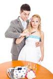 Couples fous de mariage images stock
