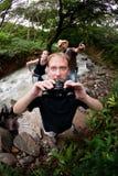 Ajouter européens et américains au guide de nature image stock