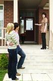 Ajouter heureux à l'agent immobilier réel Photo libre de droits