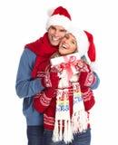 Ajouter heureux au cadeau de Noël. Photographie stock
