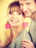 Ajouter heureux aux coeurs Photographie stock
