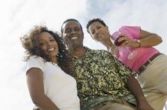 Ajouter heureux d'Afro-américain à l'ami Images libres de droits