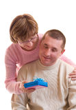 Ajouter heureux mûrs au cadre de cadeau Photo libre de droits
