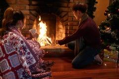 Ajouter le bois de chauffage Photographie stock