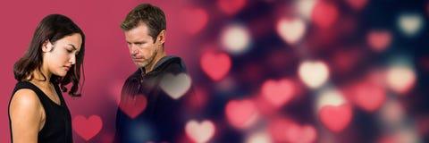 Ajouter problématiques tristes aux coeurs de transition de l'amour de la valentine Images stock