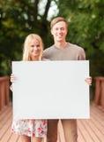Ajouter romantiques au conseil blanc vide Images libres de droits
