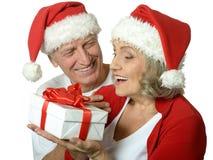Ajouter supérieurs au cadeau de Noël Image stock