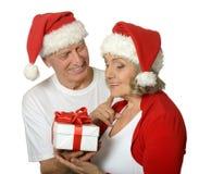 Ajouter supérieurs au cadeau de Noël Photo stock