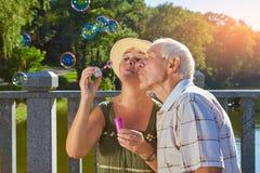 Ajouter supérieurs au ventilateur de bulle Photos stock