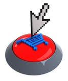 Ajoutez au bouton de chariot illustration stock
