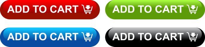 Ajoutez au panier les boutons de Web illustration stock