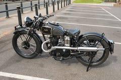 AJS-motorcykel Arkivbilder