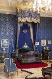 Ajuda全国宫殿里斯本的女王卧室 免版税库存照片