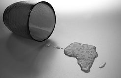 Ajuda África foto de stock