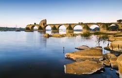 Ajuda Bridge, Olivenza Royalty Free Stock Photos