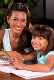 Ajuda com trabalhos de casa Imagens de Stock Royalty Free