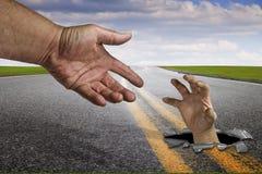 Ajuda, curso, estrada Imagens de Stock Royalty Free