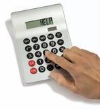 Ajuda da calculadora Imagem de Stock