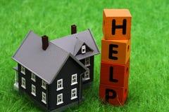 Ajuda da hipoteca Imagens de Stock Royalty Free