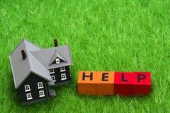 Ajuda da hipoteca Fotos de Stock Royalty Free