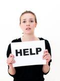 AJUDA DA NECESSIDADE? Imagem de Stock