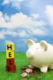 Ajuda das economias Fotos de Stock