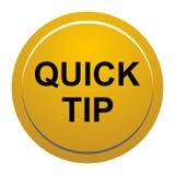 Ajuda de botão da ponta rápida e conceito redondos amarelos dourados da sugestão ilustração do vetor