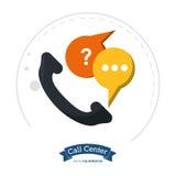 ajuda de uma comunicação do telefone do centro de atendimento ilustração stock