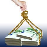 Ajuda do Euro Foto de Stock