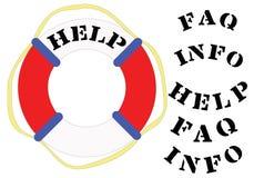 AJUDA do Lifesaver Imagem de Stock Royalty Free